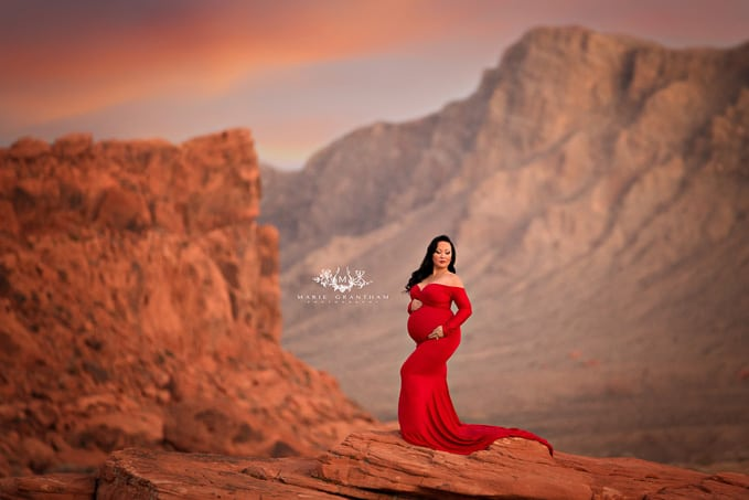 marie grantham Photography maternity photographer Las Vegas valley of fire maternity photos