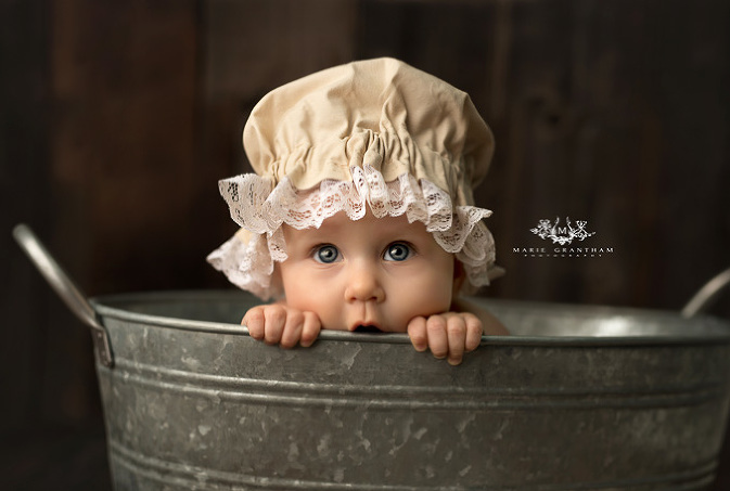 marie grantham Photography baby cake smash photographer Las Vegas galvanized bucket baby photo