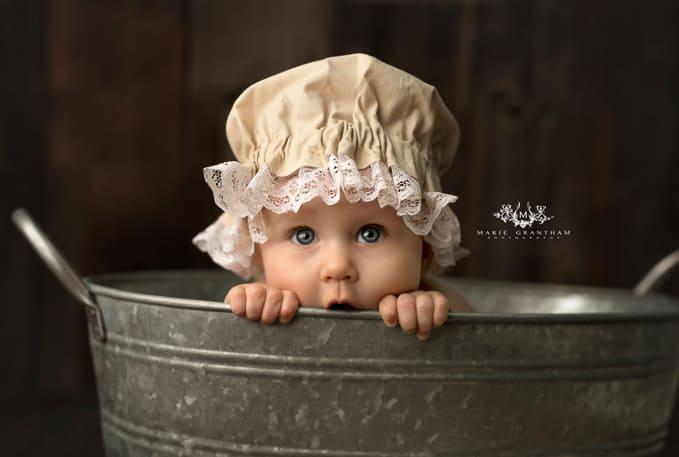 marie grantham Photography baby cake smash photographer Las Vegas galvanized bucket baby photo