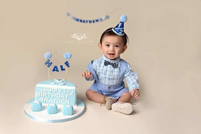 Marie Grantham Photography Baby Cake Smash Photographer Las Vegas