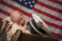 military newborn photography