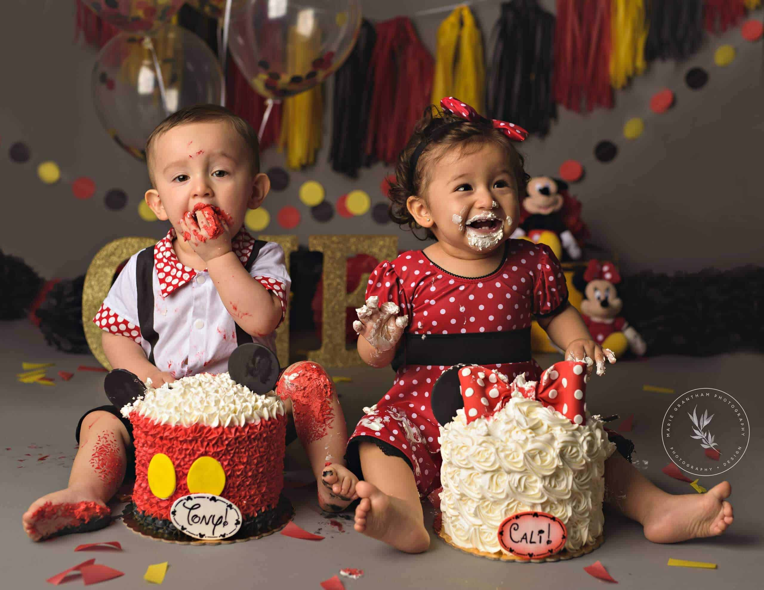 Astounding Classic Mickey Mouse Cake Smash Marie Grantham Photography Funny Birthday Cards Online Fluifree Goldxyz