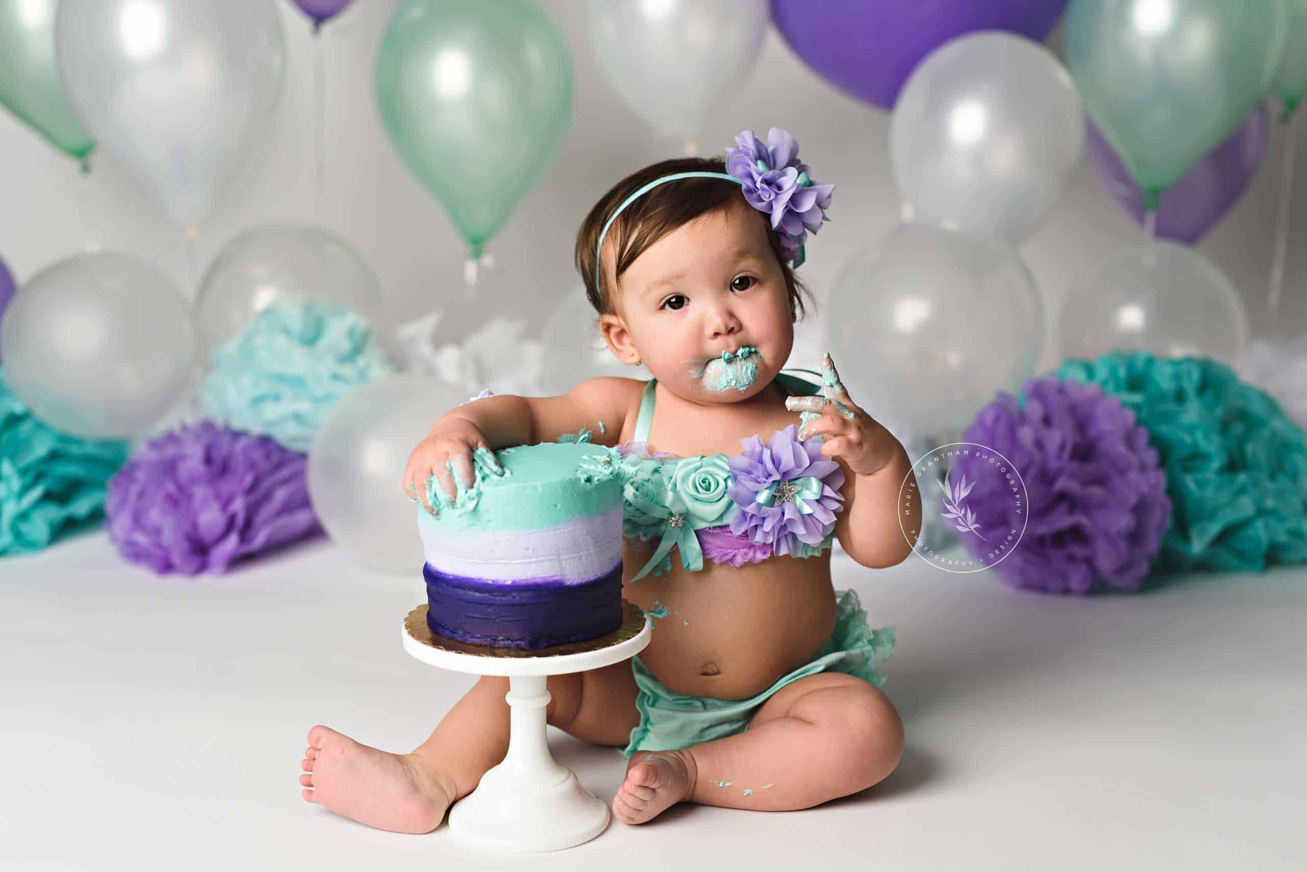 Miraculous Mermaid Cake Smash Marie Grantham Photography Personalised Birthday Cards Arneslily Jamesorg